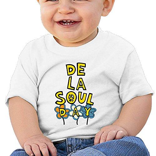 Price comparison product image Boss-Seller De La Soul Short-Sleeve Tees For 6-24 Months Infant Size 24 Months White