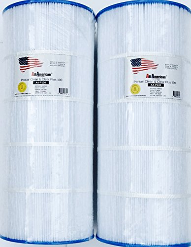 American Pool (2 PACK Pentair Clean and Clear 100 R173215 Pentair 590542, Unicel C-9410, Pleatco PAP100, Filbur FC-0686 All American AA-P100 9003 Replacement Swimming Pool Filter Cartridge)