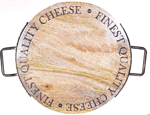 Palais Dinnerware Mango Wood Cutting Board - Wooden Butcher Block - Cheese Board - Laser Etched Lettering (16