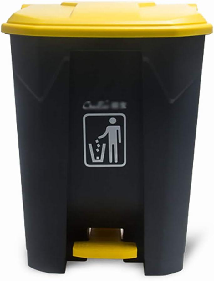residuos de jard/ín con Tapa para Almacenamiento de Basura alimento para Animales Semillas 120 L Cubo de Basura Grande de pl/ástico para Exteriores
