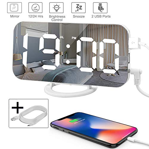 Digital Alarm Clock,Mirror Digital Clock with 6.5