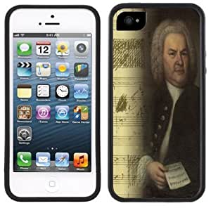 Bach Music Composer Handmade iPhone 5 Black Bumper Plastic Case