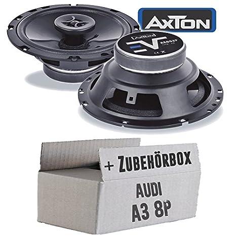 Hertz Lautsprecher 440W 16,5cm X165 Koax incl Einbauset f/ür Audi A3 8P 03//2003-05//2012