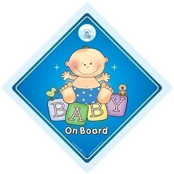 Bebé a bordo señal de coche, NIETO BORDO, , NIÑO señal ...