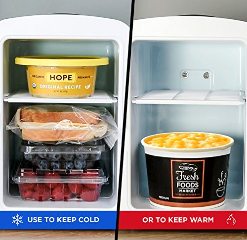 Chefman Portable Compact Personal Fridge Cools & Heats, 4 Liter Capacity Chills Six 12 oz Cans, 100% Freon-Free & Eco Friendly, Includes Plugs for Home Outlet & 12V Car Charger - White by Chefman (Image #2)