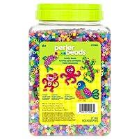 Perler Beads - Granos de fusibles multicolores surtidos a granel para manualidades infantiles, 22000 piezas