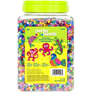 Perler 17000 Beads 22,000 Count Bead Jar Multi-Mix Colors