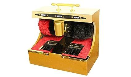 GRJCXJ Máquina automática de Limpieza de Suela y pulidora de Zapatos por inducción infrarroja, Polvo