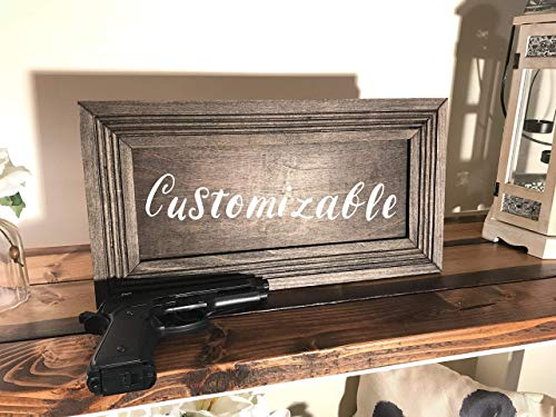 Hidden Gun Storage Cabinet with Ebony Finish, Customizable