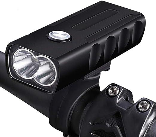 Luz Delantera LED para Bicicleta Carga USB Súper Brillante Potente ...