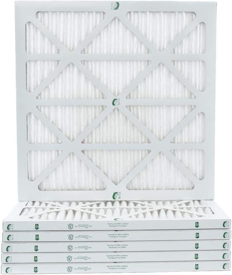 Box of 6 Actual Size 20x22x1 MERV 10 AC /& Furnace Air Filters 19-1//2 x 21-7//8 x 7//8