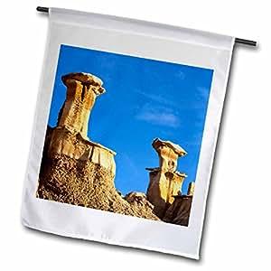 Danita Delimont - Rock Formations - Badlands rock formation, Bisti Wilderness, New Mexico - US32 CHA0013 - Chuck Haney - 18 x 27 inch Garden Flag (fl_92577_2)