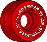 RollerBones Art Elite Competition 103a Roller Skate Wheels - Red - 62mm