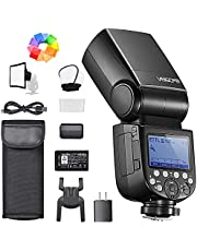Godox V860III-N flitsapparaat voor Nikon-camera's, 76 Ws, 2,4 G HSS 1/8000s met 10-speed instelbaar instellicht, 7,2 V/2600 mAh lithiumbatterij, inclusief diffuser, kleurfilter, mini-softbox