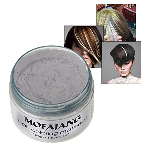 Sunsent 7 Colors Hair Care Hair Wax Matte Hairstyle Pomades (White)