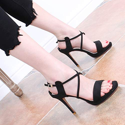Ribbons Roman Thin shoes Beige Sandals Shoes Table 10Cm Crossed Fashion Shoes GTVERNH Waterproof Fashion Summer Open women's Sexy Heels Women'S High Toes Xpgqfg
