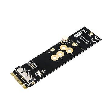 LeHang BCM94360CD / BCM94360CS2 / BCM943224PCIEBT2 12 + 6Pin Bluetooth Tarjeta WiFi a NGFF (M.2) Adaptador de Clave M para Mac OS