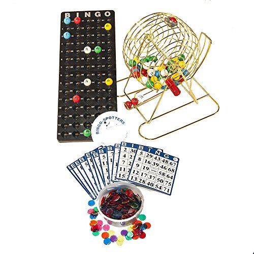 Complete Bingo (Complete Deluxe Small Brass Plated Bingo Party Set w/No-Glare, Fade and Scratch Resistance NEW Proprietary Technology 7/8