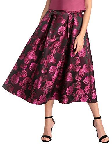 schwarz Fashion Falda pink blush Glamour Black Schwarz Apart Para Mujer Mehrfarbig pink Cherry pink vTqdXY