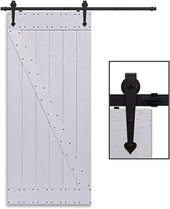 CCJH 4FT-122cm Herraje para Puerta Corredera Kit de Accesorios ...