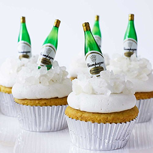- Champagne Bottle Cupcake Topper Kit - (24) 2 1/4