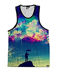 iHeartRaves Till the Sky Falls Down Men's Sleeveless Tank Top Shirt for the Gym, Festivals, Raves (XX-Large)