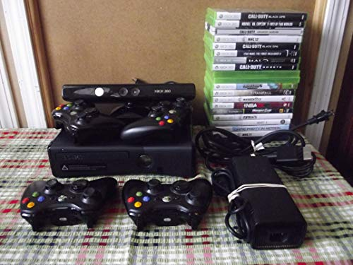 Xbox 360 - Slim Black Bundle- 500GB - Includes 20 Games - 4 Controllers
