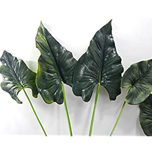 Meide Group USA Large Real Touch Latex Individual Stem Calla Lily Anthurium Green Leaves for Topiary, Greenery, and Arrangements (Pack of 5) 21