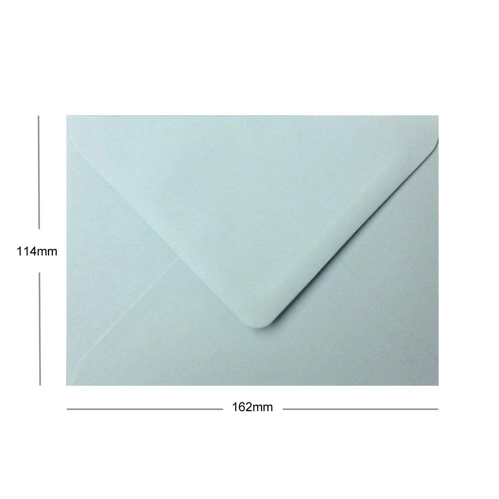 100 x A6 C6-Buste da lettera colore 114 x 162 mm blu