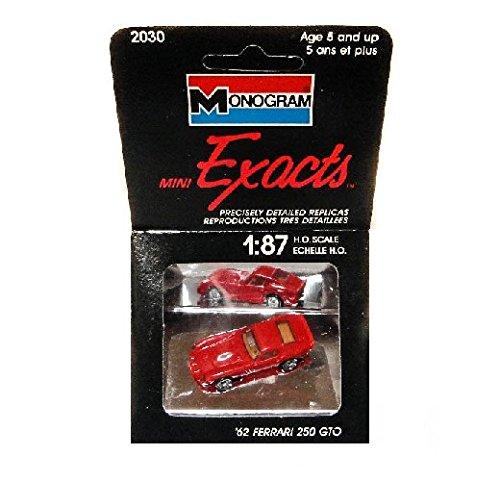 Monogram Exacts: 1:87 Ho Scale Model, 1962 Ferrari 250 GTO in Red