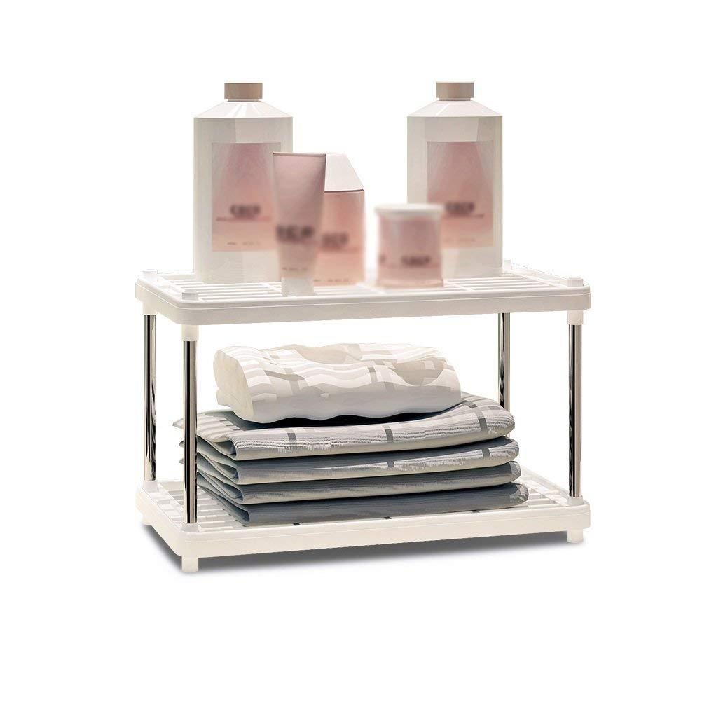 YCT 収納キャビネットを整理する、棚キッチンシェルフプラスチック床収納棚浴室リビングルーム仕上げ2階建て B07R9ML13H