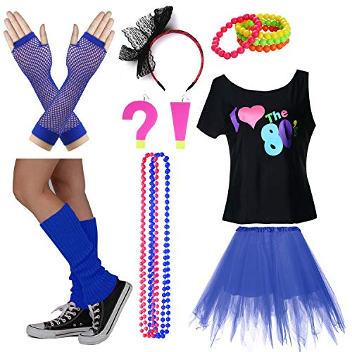 I Love The 80's T-Shirt Fancy Outfit Dress