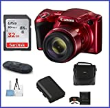 Canon PowerShot SX420 IS Digital Camera [Red] 32GB Bundle, Includes 32GB SDHC Class 10 Memory Card, Spare Battery, Small Camera Bag and more … Review
