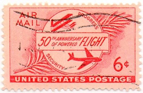 US Air Mail Postage Stamp Single 1953 Flight 50th Anniversary Issue 6 cents Scott #C47