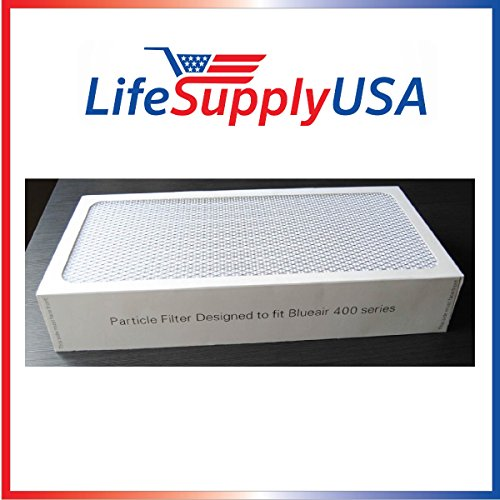 2 Air Purifier Filters fits ALL Blueair 400 Models 400PF, 401, 401PF, 410B, 402, 403, 410 450E, 455, 455EB; Designed & Engineered By Vacuum Savings