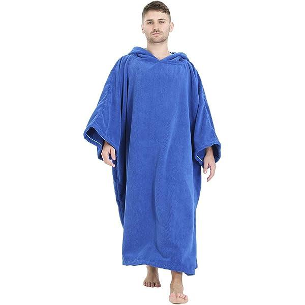 laamei Adulto Unisex Poncho con Capucha Toalla de Ba/ño Verano Vestidos Playa Camisola Albornoz de Nadada o de Playa Suave Secado R/ápido