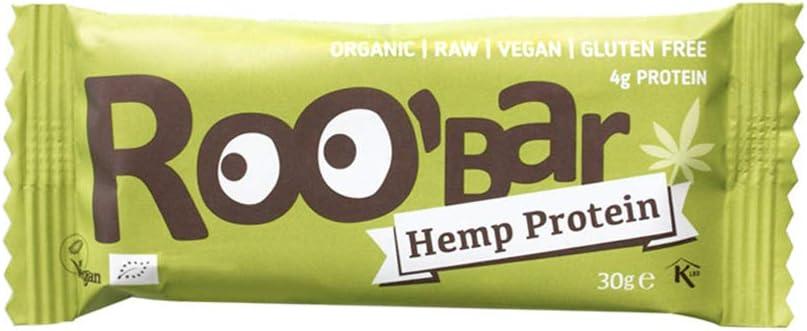 Roobar - Barrita energética de proteína de cáñamo | Orgánica y vegana | 1 unidad | 30g