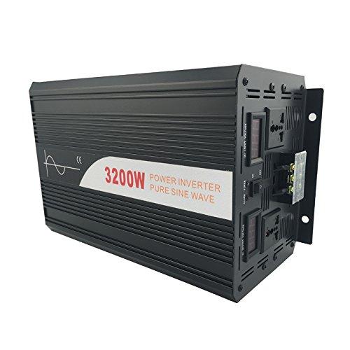 Xijia 3200W (Peak 6400W) Pure Sine Wave power Inverter DC 12V 24V 48V to AC 120V 60HZ Solar converter For Home Use car (DC 48V to AC 120V) by Xijia (Image #4)