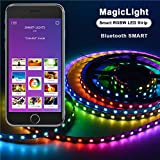 Airgoo® Smart Bluetooth RGBW LED Strip Light Kit - Smartphone App Controlled Multi Color LED Light 3.28FT for Computer Case Decoration or Computer TV Backlight, Home Decoration, Parties Decoration