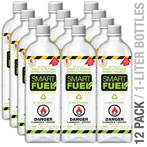 - SMARTFUEL Bio-Ethanol Fireplace Fuel : 1 Case (12 liters)