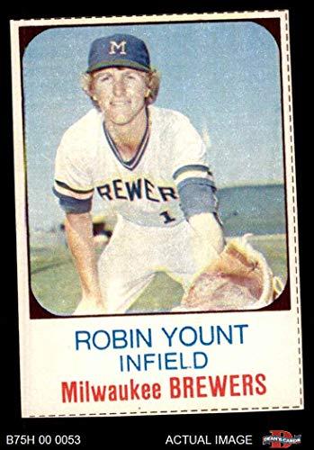 1975 Hostess # 80 Robin Yount Milwaukee Brewers (Baseball Card) Dean's Cards 5 - EX Brewers