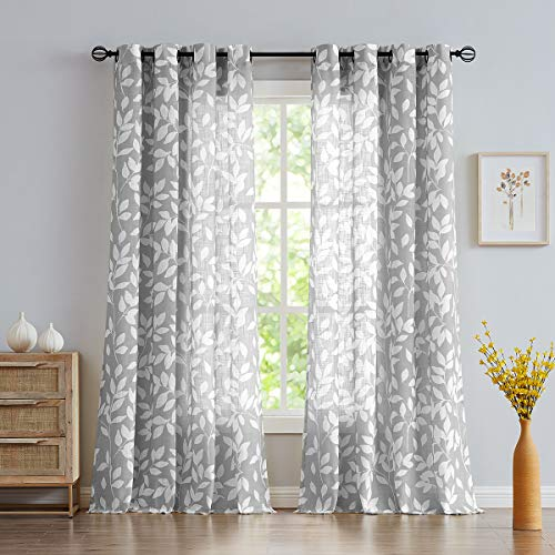 White and Grey Curtains for Bedroom 84