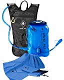Spider Pro Hydration Pack Lightweight Backpack with 2L Water Bladder INCLUDE BONUS MICROFIBER SPORTS TOWEL Hydration Backpack Great for All Outdoor Sports Adjustable Chest Sizes 27″ – 50″