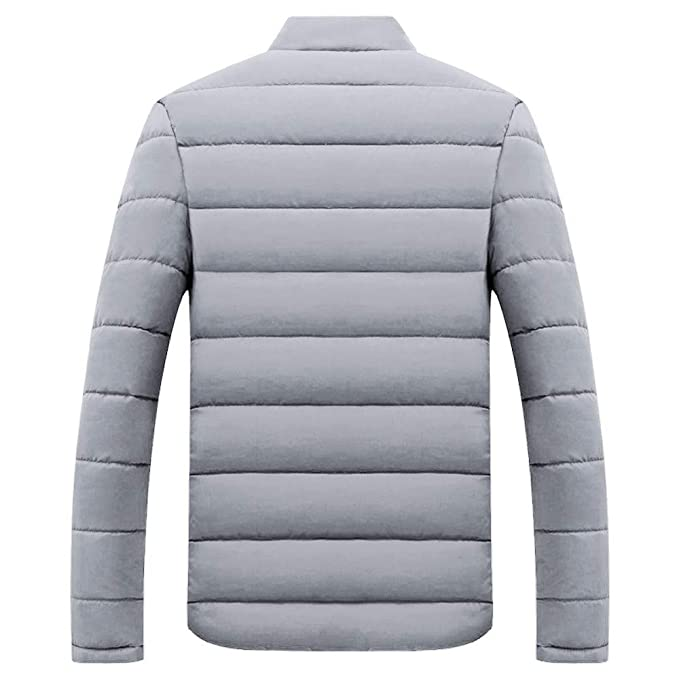 Amazon.com: SMALLE ◕‿◕ Clearance,Mens Winter Leisure Zipper Pocket Cotton Padded Stand Collar Coat Outwear Tops: Clothing