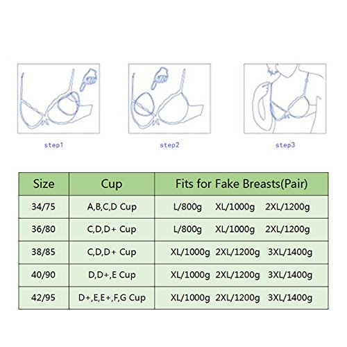 46fa1cfe12b Mayuber Pocket Bra to Hold Fake Boobs Silicone Breast Forms - Import It All