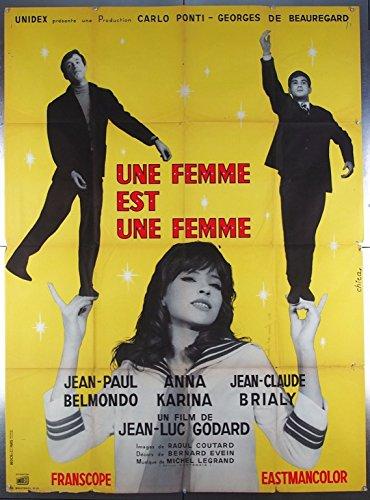 Femme Est Une Femme, Une 1961 Original Movie Poster