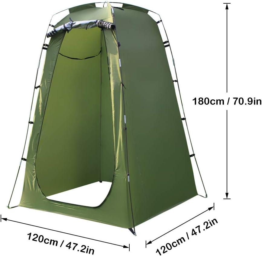 LIAO Tiendas de campaña para Acampar, al Aire Libre Surge la Tienda 180T Camping Ducha Baño Aseo de privacidad Cambiar Refugio Habitación Individual Moving Carpas Plegables Green