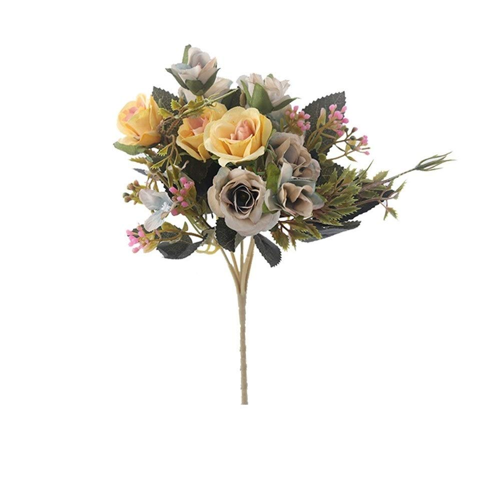 Falsas Rosas Flores Artificiales Ramo Hortensia Gypsophila Hoja ...