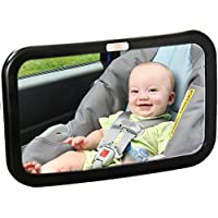 Baby Caboodle Backseat Baby Mirror — Extra Large — Ideal for Rear-Facing Infa...