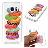Galaxy S8 Case,Samsung Galaxy S8 Case Shockproof Rubber,Gostyle Flexible Transparent Soft TPU Slicone Cute Sweet Donuts Pattern Scratch Resistant Ultra Slim Fit Back Cover